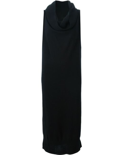 MM6 by Maison Margiela | Женское Чёрный Draped Collar Tube Knit Dress