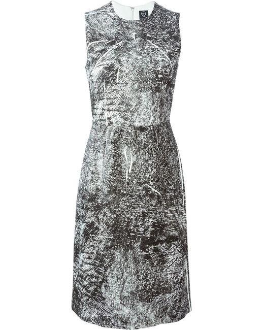 Mcq Alexander Mcqueen | Женское Чёрный Trompe Loeil Print Dress