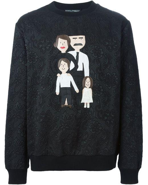 Dolce & Gabbana   Мужская Чёрная Толстовка С Аппликацией