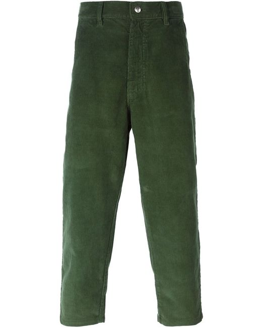SOCIETE ANONYME | Зелёный Cropped Corduroy Trousers