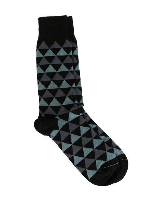 Paul Smith | Мужские Синие Носки С Геометрическим Узором