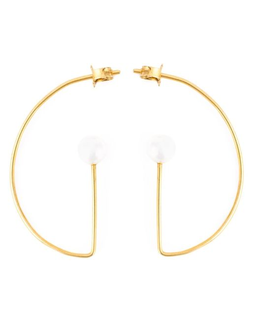 VIBE HARSLOF   Женское Metallic Pearl Detail Pendant Earrings