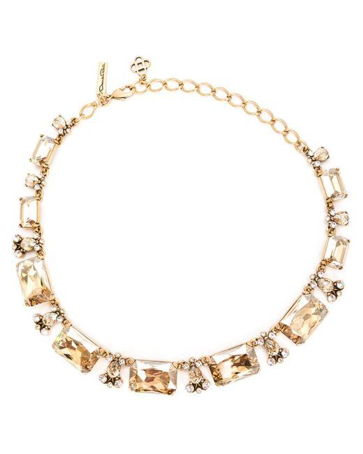 Oscar de la Renta | Женское Серебристый Baguette Necklace