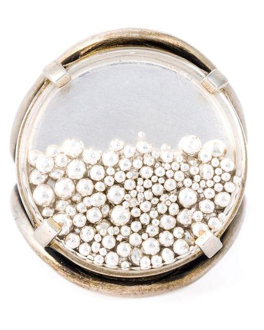 Ann Demeulemeester | Женское Серебристый Blanche Pearl Circle Ring