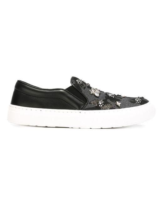 Markus Lupfer   Женское Чёрный Bug Slip-On Sneakers