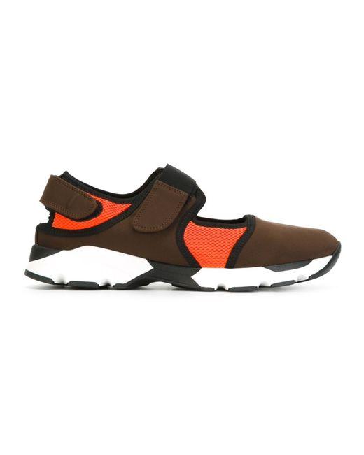 Marni | Женское Коричневый Velcro Fastening Sneakers