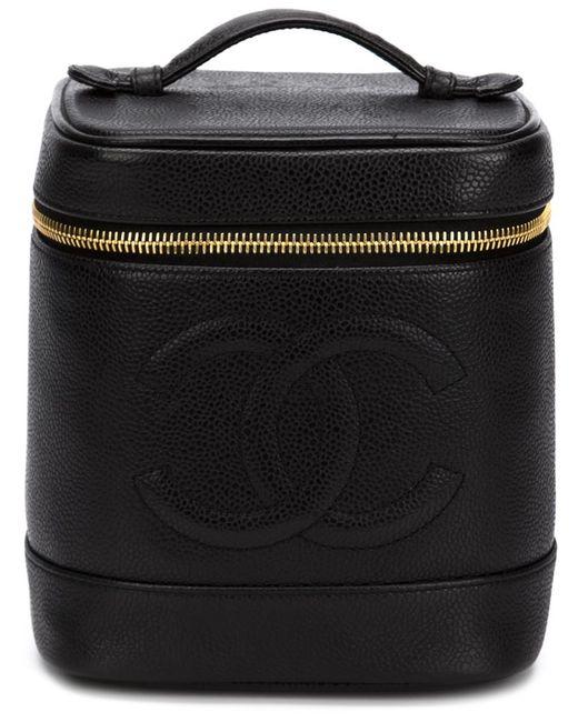 Chanel Vintage | Женская Чёрная Косметичка В Форме Цилиндра