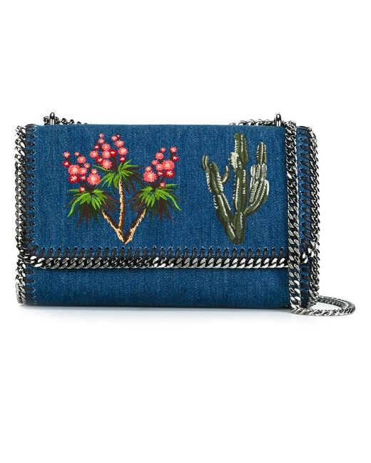 Stella Mccartney   Женское Синий Falabella Crossbody Bag Cotton/Metal Other