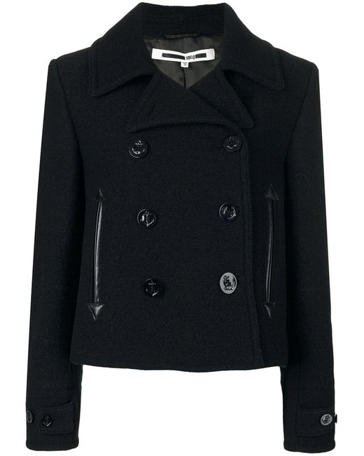 Mcq Alexander Mcqueen | Женское Чёрное Укороченное Пальто
