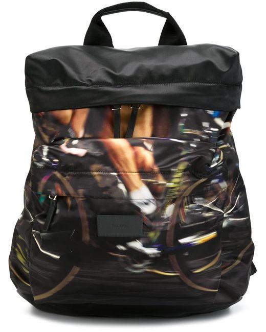 Paul Smith | Мужской Чёрный Портфель С Велосипедистами