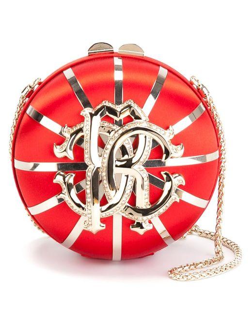 Roberto Cavalli | Женское Красный Embellished Logo Round Crossbody Bag