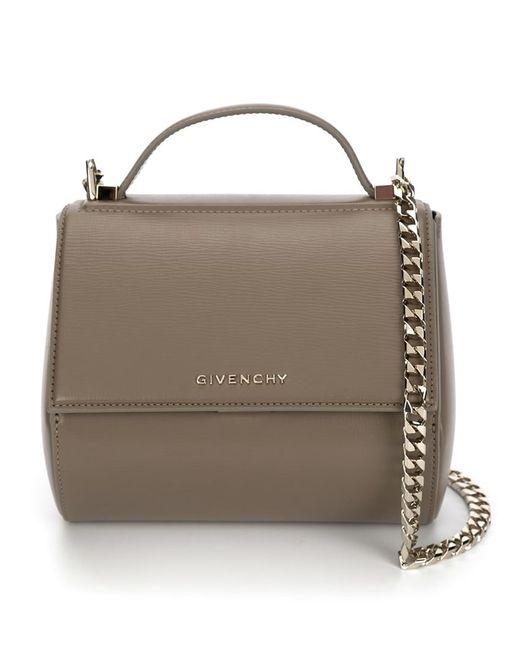 Givenchy | Женские Коричневые Мини Сумка Pandora Pure На Плечо