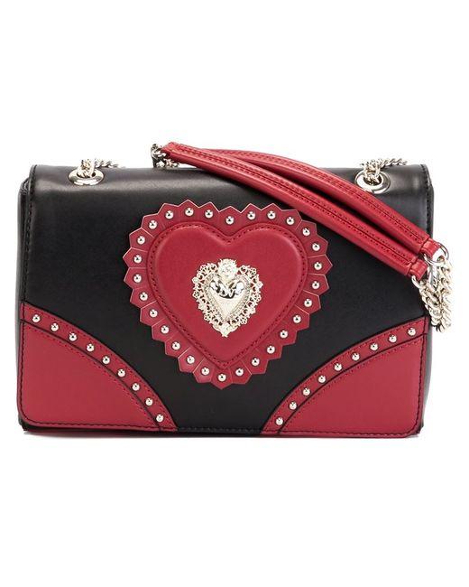 Love Moschino | Женская Чёрная Сумка На Плечо С Аппликацией-Сердцем