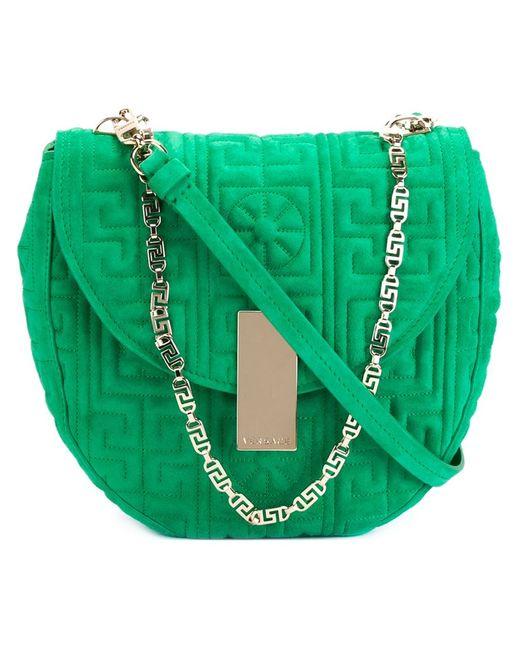 Versace | Женское Зелёный Greek Shoulder Bag