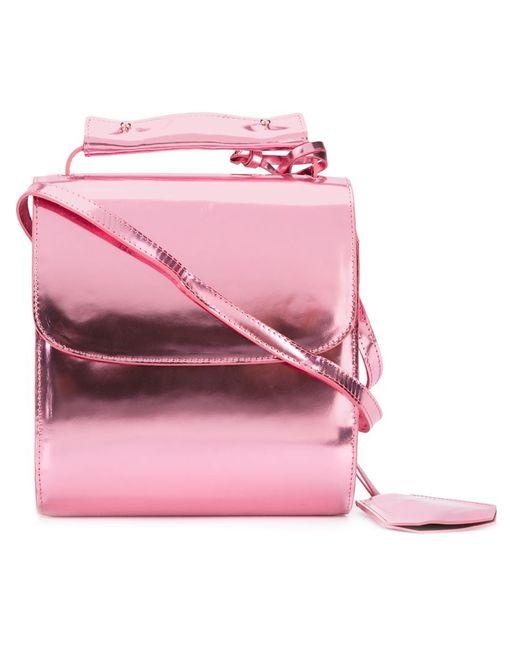 Marques Almeida | Женская Розовая Сумка На Плечо С Металлическим Отблеском