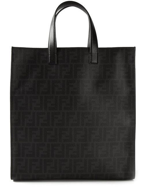 Fendi   Мужское Чёрный Ff Logo Shopper