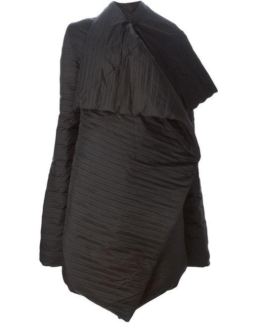 Rick Owens | Женское Чёрное Свободное Драпированное Пальто