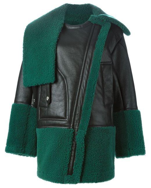 Kenzo   Женское Чёрное Драпированное Пальто