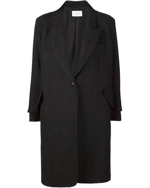 SONG FOR THE MUTE | Женское Чёрное Однобортное Пальто