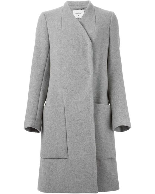 Dondup | Женское Серое Двубортное Пальто