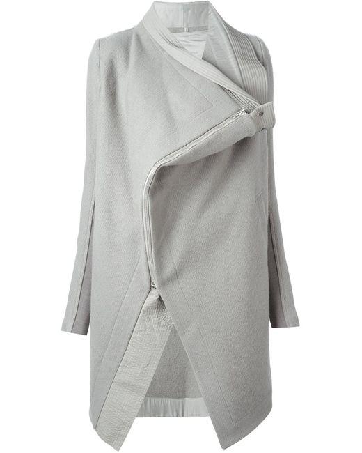 Rick Owens   Женское Серое Пальто Saturn Lapes
