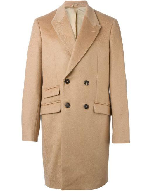 Ports | Мужское Коричневое Двубортное Пальто