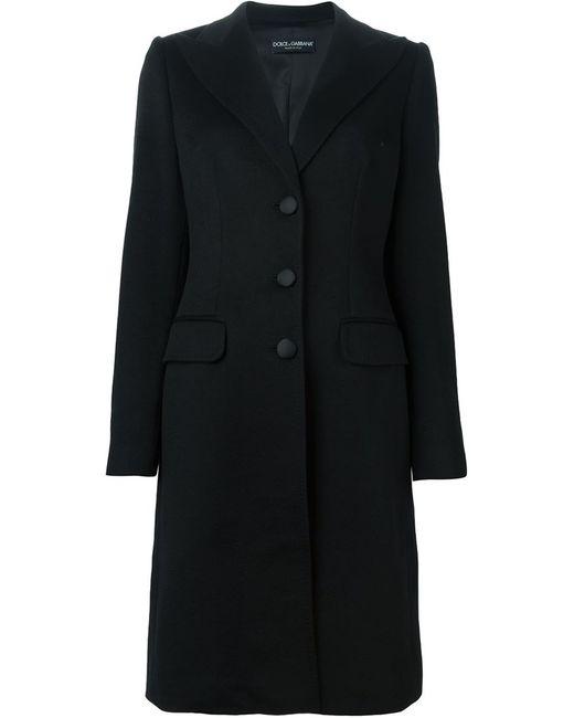 Dolce & Gabbana | Женское Чёрное Однобортное Пальто