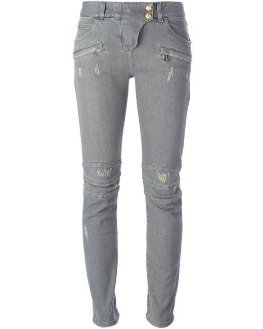 Balmain | Женское Серый Biker Jeans