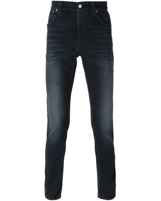 Nudie Jeans Co | Мужские Чёрные Джинсы Кроя Скинни