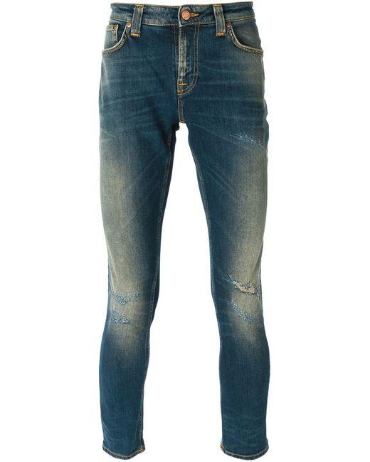 Nudie Jeans Co | Мужские Синие Джинсы Кроя Скинни