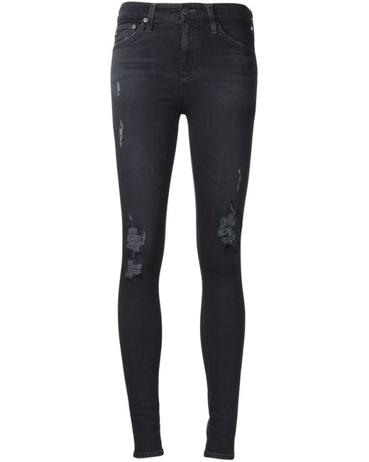 AG JEANS | Синий Farrah Skinny Jeans