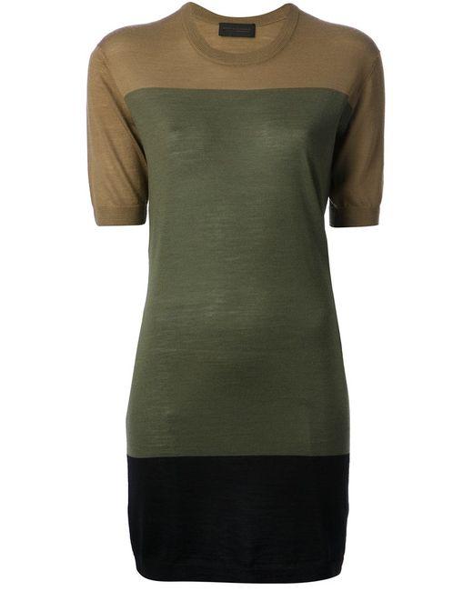 Diesel Black Gold | Женское Зелёное Платье Drouky
