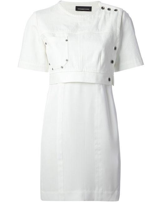 Diesel Black Gold | Женское Белое Платье Dover
