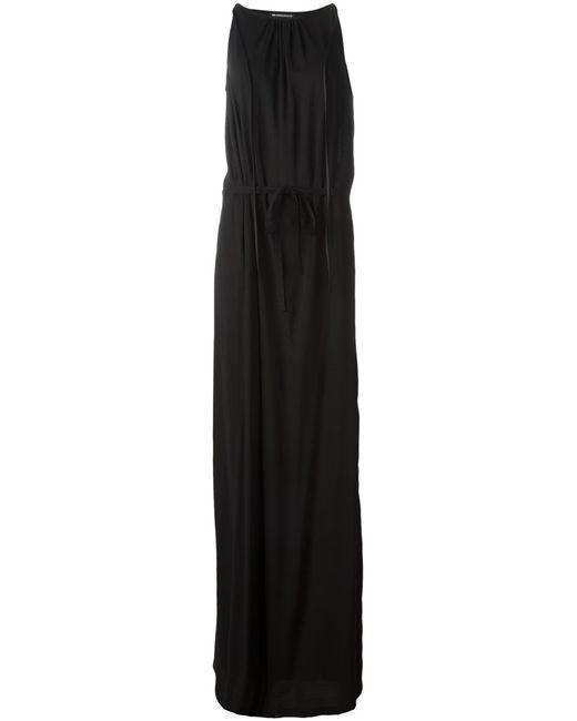 Ann Demeulemeester | Женское Чёрное Длинное Платье С Поясом