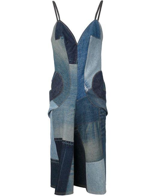 JUNYA WATANABE COMME DES GARCONS | Женское Чёрное Джинсовое Платье Лоскутного Кроя