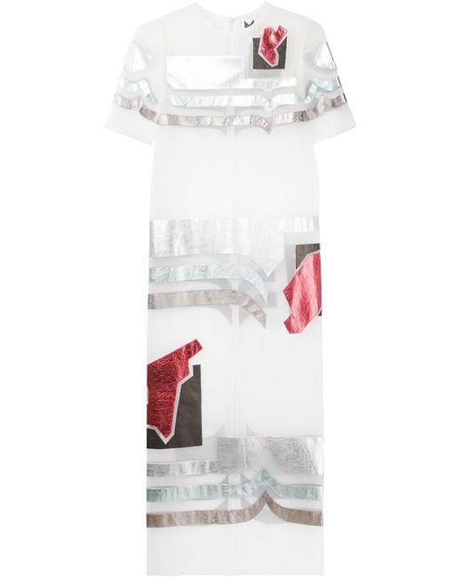 SADIE WILLIAMS   Женское Многоцветное Прозрачное Платье С Аппликацией
