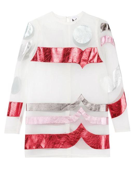 SADIE WILLIAMS | Женское Многоцветное Прозрачное Платье-Шифт С Аппликацией