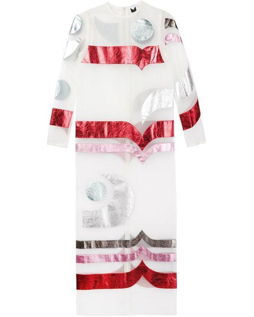 SADIE WILLIAMS   Женское Многоцветное Длинное Прозрачное Платье С Аппликацией