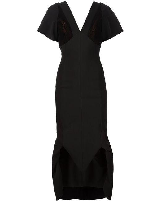 MICOL RAGNI | Женское Чёрное Платье С Сетчатыми Вставками