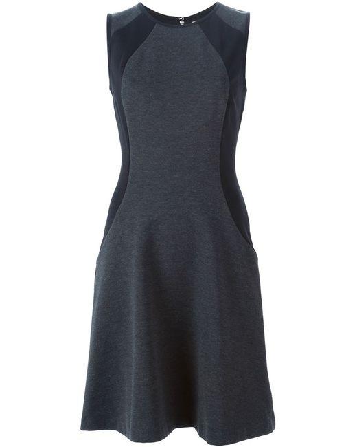 Michael Michael Kors | Женское Серое Платье Без Рукавов С Контрастными Вставками