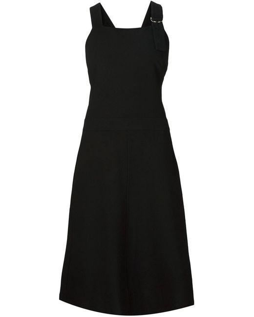 NOMIA | Женское Чёрное Платье С Перекрещенными Лямками На Спине