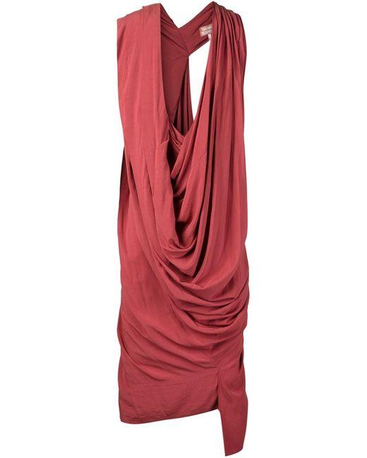 Vivienne Westwood | Женское Жёлтое Драпированное Платье Rill