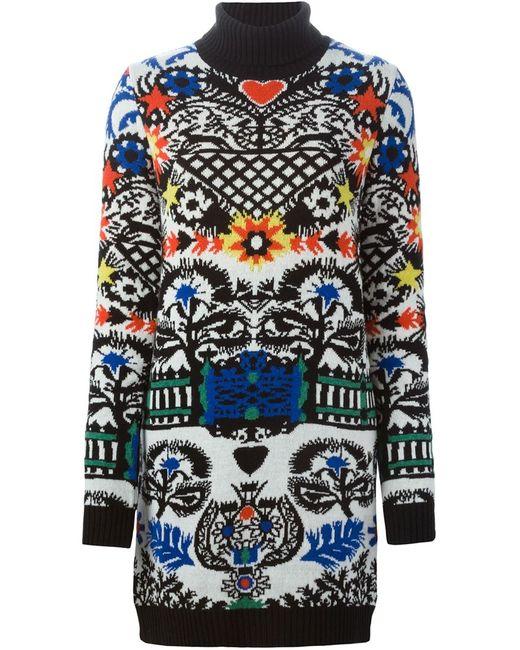 MSGM | Женское Многоцветный Intarsia Knit Dress