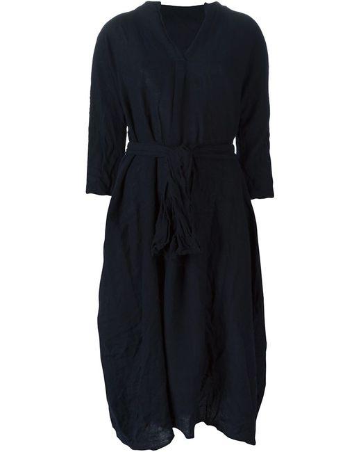 DANIELA GREGIS | Женское Синее Платье-Рубашка С Состаренным Эффектом