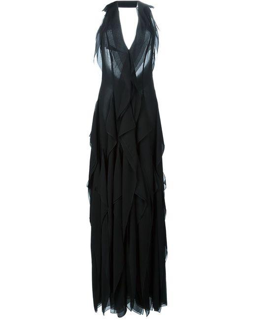 Emilio Pucci | Женское Чёрный Halterneck Ruffled Gown