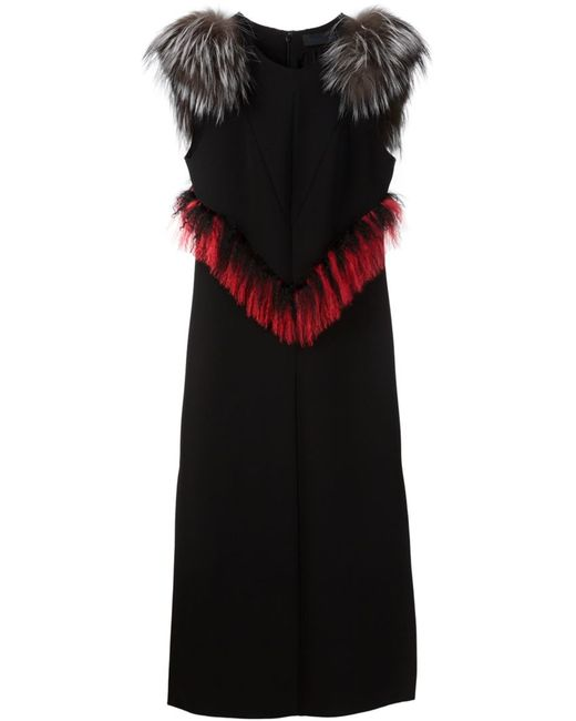 Proenza Schouler | Женское Чёрный Fur Trim Shift Dress