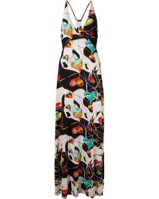 AMIR SLAMA | Женское Чёрный Printed Long Dress