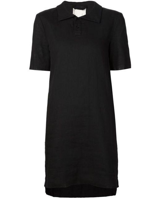 PHOEBE ENGLISH | Женское Чёрное Платье-Поло