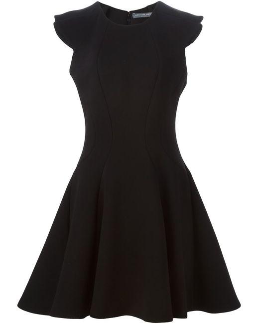 Alexander McQueen   Женское Чёрное Короткое Расклешенное Платье