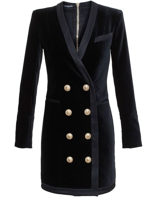 Balmain   Женское Чёрный Buttoned Jacket Dress